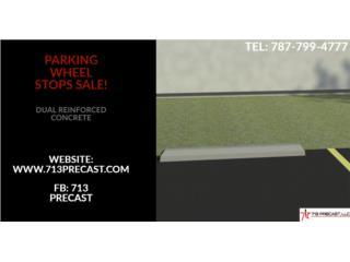 wheel stopper bumper concreto parking auto, 713 Precast LLC Puerto Rico
