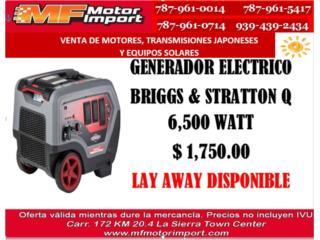 GENERADOR BRIGGS & STRATION 6,500, Mf motor import Puerto Rico