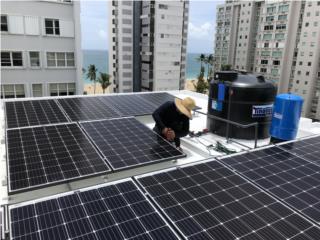 Bayamón Puerto Rico Tanques de Agua, Venta Sistemas Solares con Reserva en Batería