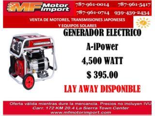 GENERADOR ELECTRICO  Ai-POWER  4,500 WATT, Mf motor import Puerto Rico