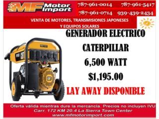GENERADOR ELECTRICO CATERPILLAR 6,500 WATT, Mf motor import Puerto Rico
