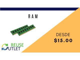 RAM PARA DESKTOP Y LAPTOP , Reuse Outlet Store Puerto Rico