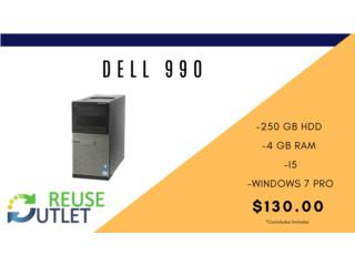 DELL 990 | 250 HDD | 4 RAM | W7PRO, Reuse Outlet Store Puerto Rico