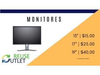 VARIEDAD DE MONITORES , Reuse Outlet Store Puerto Rico