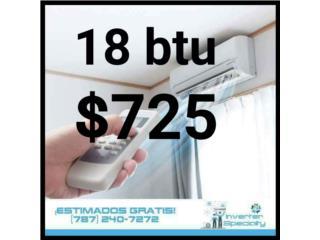 inverter 18 btu 20 seer $725, Inverter Store & Supplies Puerto Rico