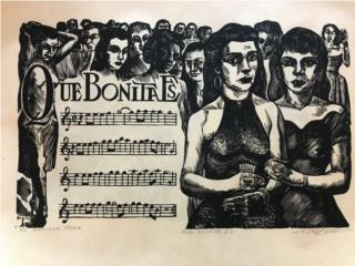 R.Tufiño - COLECCION ORIGINAL - ¨Las Plenas¨, PR ART COLLECTION Puerto Rico