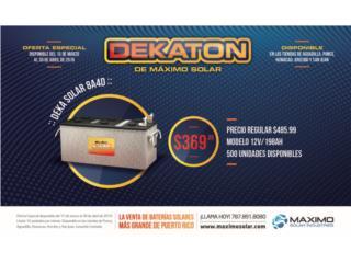 Bateria Deka Solar 8A4D 12V 198AH, MAXIMO SOLAR INDUSTRIES Puerto Rico