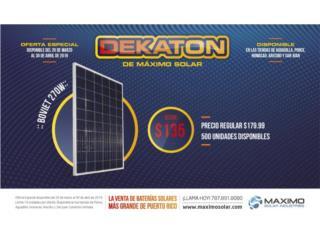 Paneles 270 Watts Poly $135.00, MAXIMO SOLAR INDUSTRIES Puerto Rico