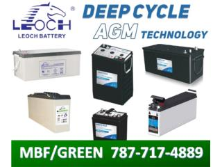 Baterias LEOCH en AGM (Solar/Back Up) - OGPe*, MULTI BATTERIES & FORKLIFT, CORP. Puerto Rico
