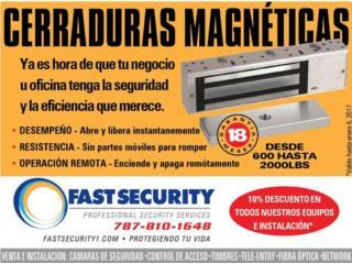 Cerradura magnética 18 meses de garantia, FAST SECURITY  Puerto Rico