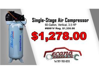3.5HP Single-Stage Air Compressor - 60-Gallon, ECONO TOOLS Puerto Rico