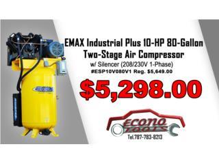 EMAX 10-HP 80-Gallon Two-Stag Air Compressor, ECONO TOOLS Puerto Rico