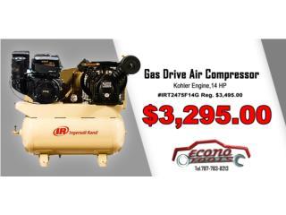 14 HP Gas Drive Air Compressor -Kohler Engine, ECONO TOOLS Puerto Rico