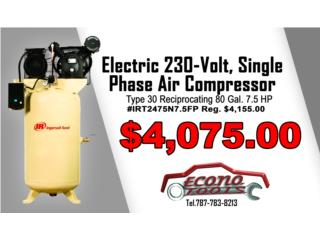 80 Gal. 7.5 HP Electric 230-Volt,Air Compress, ECONO TOOLS Puerto Rico