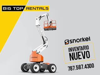 NUEVO Boom Lift Articulado Snorkel A46JRT, Big Top Rentals - Equipo de Construcción Puerto Rico