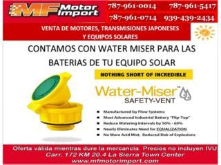 WATER MISSER PARA BATERIAS DE  SISTEMA SOLAR, Mf motor import Puerto Rico