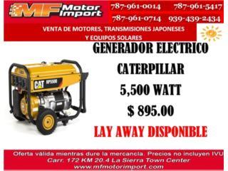 PLANTA ELECTRICA CATERPILLAR 5,500 WATT, Mf motor import Puerto Rico