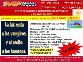 COMBO DE SISTEMA SOLAR PARA SU HOGAR, Mf motor import Puerto Rico