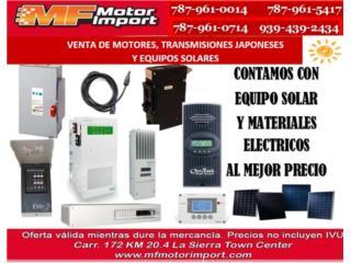 EQUIPO SOLAR Y MATERIALES ELECTRICOS, Mf motor import Puerto Rico