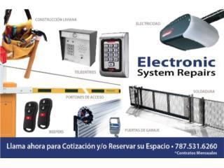 Todo tipo de motores para puertas de garaje, ELECTRONIC SYSTEM REPAIRS Puerto Rico
