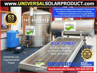 CALENTADOR UNIVERSAL Y CISTERNAS, UNIVERSAL SOLAR (787) 635-5575 OFICINA CENTRAL Puerto Rico