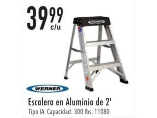 Escalera en aluminio de 2', Ferreteria Ace Berrios Puerto Rico