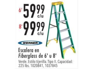Escalera en fiberglass de 6' u 8' , Ferreteria Ace Berrios Puerto Rico