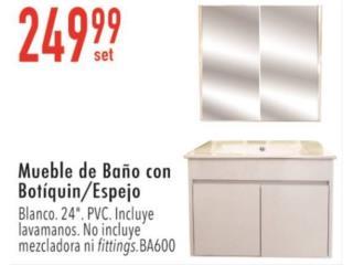 Muebles de baño con botiquín y espejo, Ferreteria Ace Berrios Puerto Rico