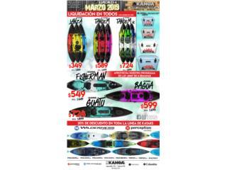 Liquidación de modelos de kayaks 2018, KANOA kayaks Puerto Rico