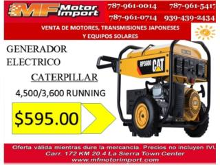 GENERADOR ELECTRICO CATERPILLAR 4,500/3600 W, Mf motor import Puerto Rico