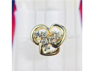 Anillo de Dama Oro 14kt con Diamantes, Cashex Puerto Rico