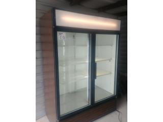 Nevera de 2 puertas de cristal, Refrigeracion AM Puerto Rico