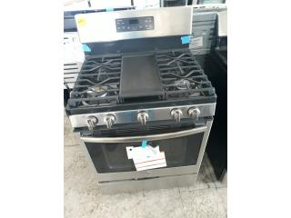 ESTUFA DE GAS GE NEGRA Y STAINLESS STEEL , COLON APPLIANCES PARTS DIST. Puerto Rico