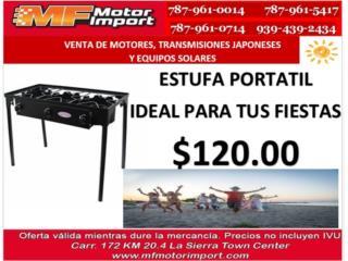 ESTUFA PORTATIL DE 3 HORNILLAS, Mf motor import Puerto Rico