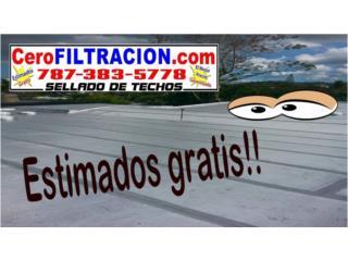 GOTERAS, FILTRACIONES, CERO FILTRACION, RPM Corp, Sellado de Techo, Tel 787-383-5778 Puerto Rico