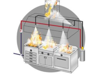 Sistema de Supreción de Incendios Cocina, CARIBBEAN FIRE EQUIPMENT CORP. Puerto Rico