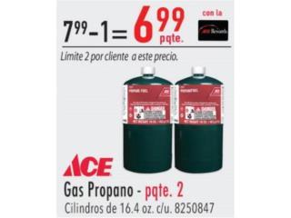 Gas propano paquete de 2 , Ferreteria Ace Berrios Puerto Rico
