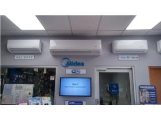 Midea 24 btu seer 9 $995 instal. basic., A.Ortiz refrigeration services. Puerto Rico