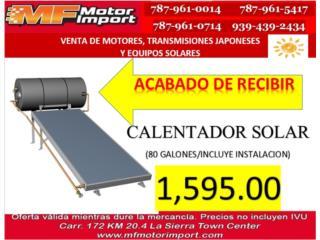 CALENTADOR SOLAR , Mf motor import Puerto Rico