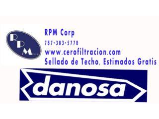 Danosa, Sellado de Techo, Ofertas Area Oeste, RPM Corp, Sellado de Techo, Tel 787-383-5778 Puerto Rico