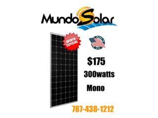 Paneles Monocristalinos $179 made USA, Mundo Solar Puerto Rico