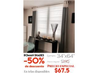 Roman Shades -50%! Vea precios , READY SHADES Puerto Rico