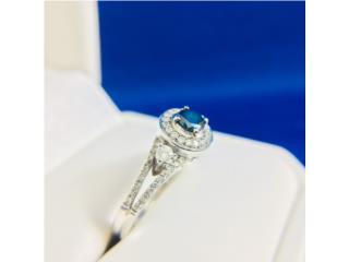 Anillo de Compromiso Diamante Azul Oro 10kt, Cashex Puerto Rico