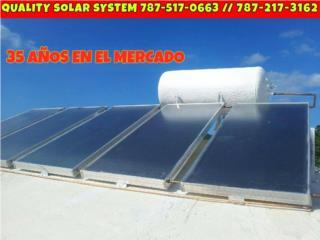 CAL SOL COMPARE HIERRO V.S STAINLESS STEEL, Quality Solar System 787-517-0663  Puerto Rico