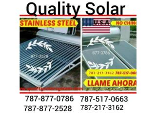 Calentador Solar Stainless Steel, Sun and Water World Puerto Rico