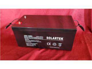 Bateria 12v 250 Ah AGM , Supermercado de Baterias y Sistemas Solares Puerto Rico