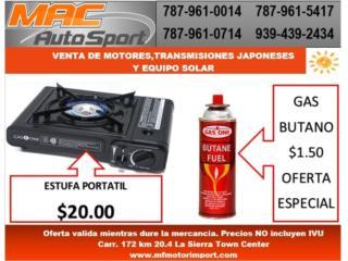 ESTUFA PORTATIL, Mf motor import Puerto Rico
