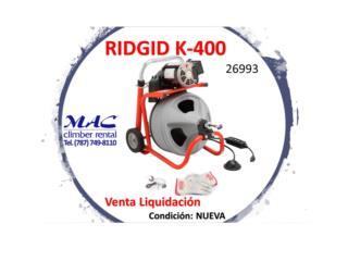 k-400 with C-31 IW  RIDGID - 26993, MAC Climber Puerto Rico