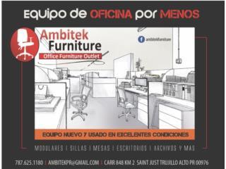 VARIEDAD DE MOBILIARIO DE OFICINA REACONDICIO, AMBITEK FURNITURE Puerto Rico