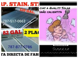 Calentado Solar Stainless Steel, Quality Solar System 787-517-0663  Puerto Rico